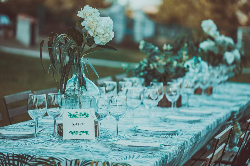 el menú de la boda al aire libre